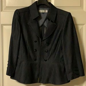 Tahari Zip Up Blazer